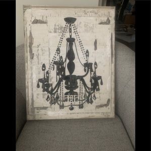 Chandelier Canvas Wall Art - small size, like new.